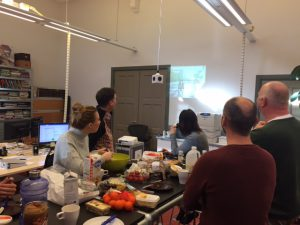 Advier staff came together for lunch and to participate in the SHARE-North webinar.