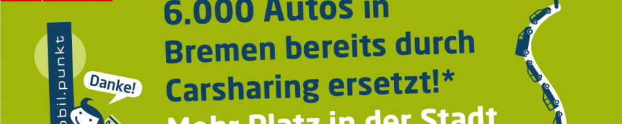 20,000 people in Bremen are using car sharing: over 6,000 cars replaced – Goals of the Carsharing Action Plan Achieved